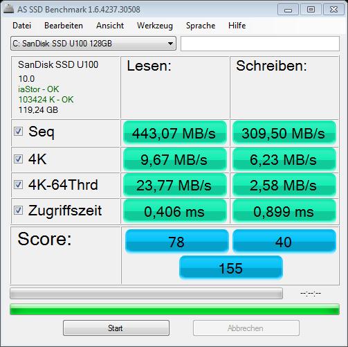 as-ssd-bench SanDisk SSD U100 17.06.2013 12-34-21